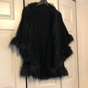Black fur shawl